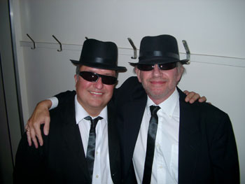 Jim Knight and Ross Jacques as The Blues Brothers
