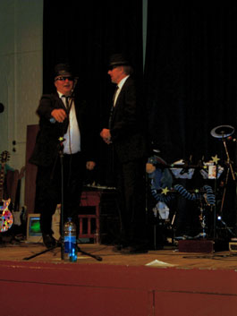 Ross Jacques and Jim Knight as The Blues Brothers